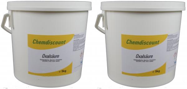 10kg (2x5kg) Oxalsäure-Pulver (Kleesäure, Ethandisäure), min 99,6%