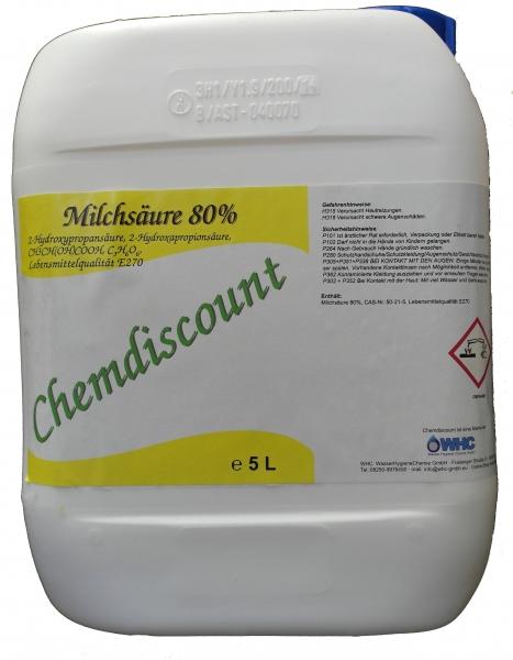 5Liter Milchsäure 80% in Lebensmittelqualität E270