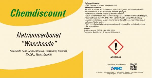 25kg Natriumcarbonat Na2CO3 als Granulat (Soda schwer, Waschsoda) , Sackware