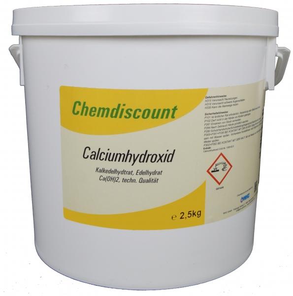 2,5kg Calciumhydroxid Ca(OH)2, techn., Edelkalkhydrat, gelöschter Kalk