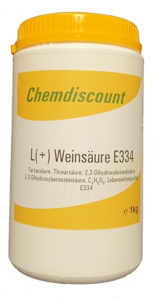 1kg L(+) Weinsäure in Lebensmittelqualität E334