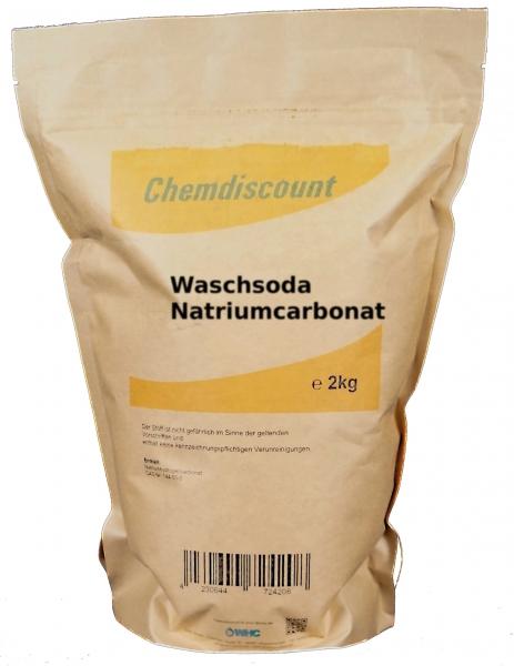 2kg Waschsoda (Natriumcarbonat) im Kraftpapier-Standbodenbeutel (wiederverschließbar)