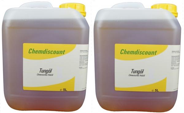 10Liter (2x 5Liter) Tungöl (echtes chinesisches Holzöl)