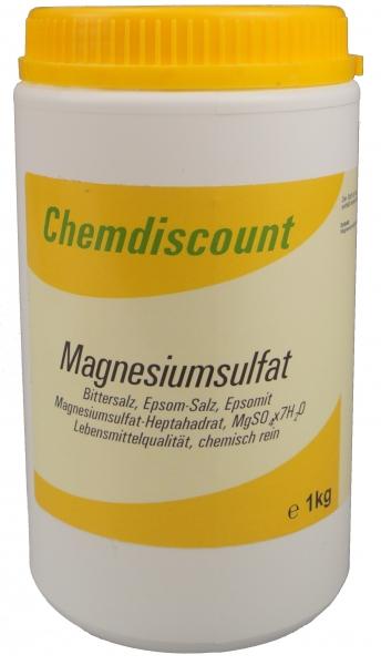 1kg Magnesiumsulfat (Bittersalz, Epsomsalz) in Lebensmittlelqualität