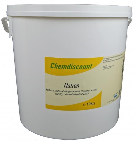 10kg Natron (= Backsoda, Backpulver, Natriumhydrogencarbonat, Natriumbicarbonat)