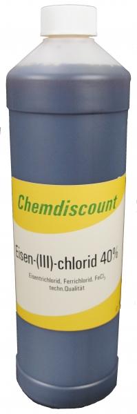1Liter (ca. 1,5 kg) Eisen-III-chlorid 40%ige Lösung Eisenchlorid Eisentrichlorid Ferrichlorid