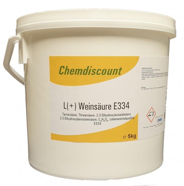 5kg L(+) Weinsäure in Lebensmittelqualität E334