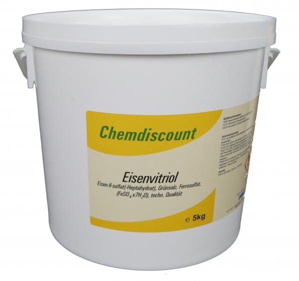 5kg Eisensulfat (Eisenvitriol, Grünsalz, Eisen2sulfat-Heptahydrat), techn.