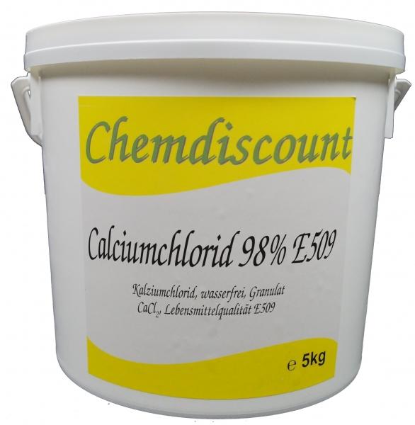 5kg Calciumchlorid 95%-98%, Lebensmittelqualität E509