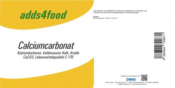 25kg Calciumcarbonat in Lebensmittelqualität E170