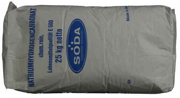 25kg Natron (Natriumhydrogencarbonat, Natriumbicarbonat, Backsoda) E500ii