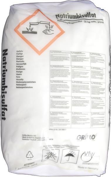 25kg Natriumbisulfat (Natriumhydrogensulfat)