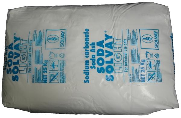 25kg Natriumcarbonat Na2CO3 als Pulver (Soda leicht), Sackware