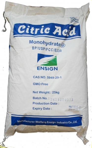 1000kg Zitronensäure in Lebensmittelqualität E330, Sackware