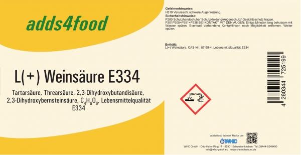 25kg L(+) Weinsäure in Lebensmittelqualität E334
