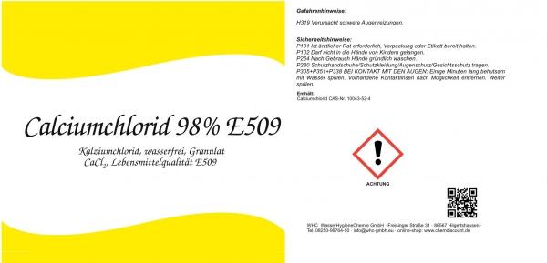 25kg Calciumchlorid 95%-98%, Lebensmittelqualität E509