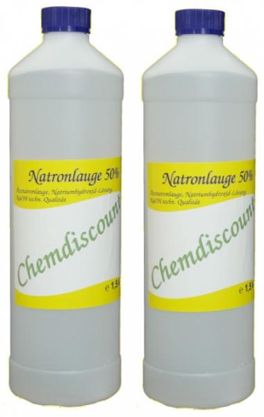 2L (2x1L) Natronlauge 50%, techn. Qualität