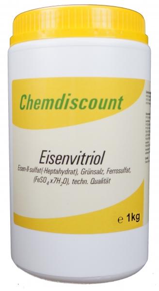 1kg Eisensulfat (Eisenvitriol, Grünsalz, Eisen2sulfat-Heptahydrat), techn.