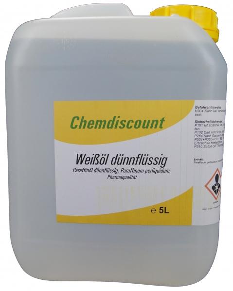 5Liter Weißöl dickflüssig, Paraffinum subliquidum, entspricht PH. EUR