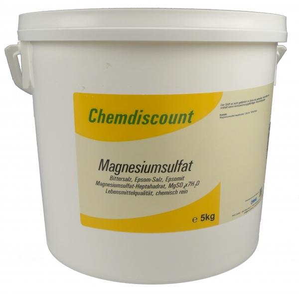 5kg Magnesiumsulfat (Bittersalz,Epsomsalz) in Lebensmittelqualität