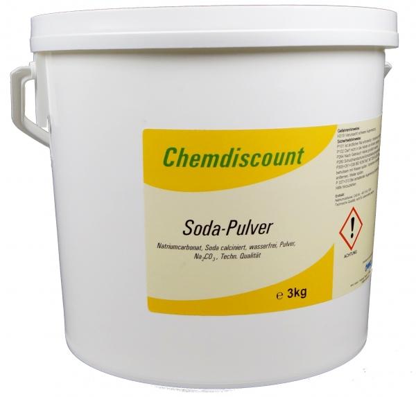 3kg Natriumcarbonat Na2CO3 als Pulver, Soda leicht