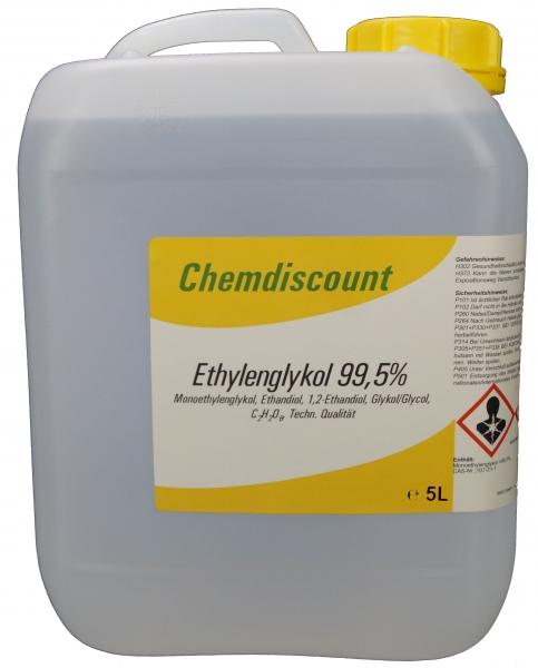 5Liter Glykol >99,5%, Monoethylenglykol, Ethylenglykol