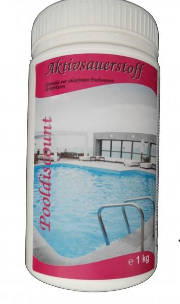 1kg Aktivsauerstoff Pulver/Granulat zur Schwimmbaddesinfektion