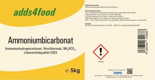 5kg AmmoniumbicarbonatLebensmittelqualität E503