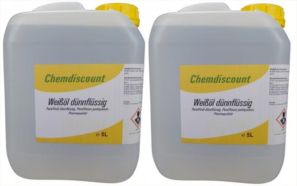 10Liter (2x5Liter) Weißöl dünnflüssig, Paraffinum perliquidum, entspricht PH. EUR