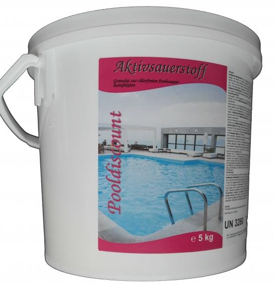 5kg Aktivsauerstoff Pulver/Granulat zur Desinfektion von Poolwasser