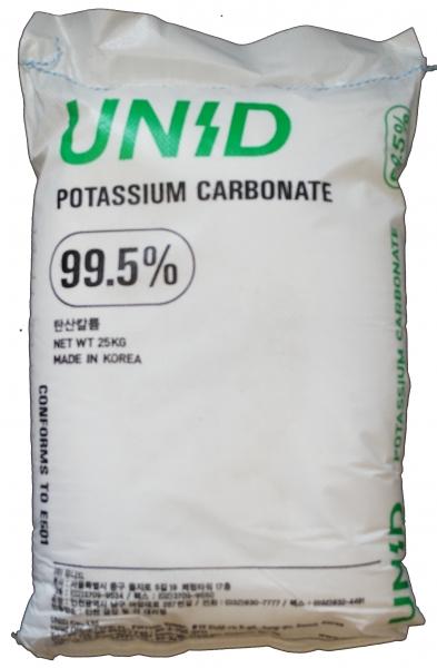 25kg Kaliumcarbonat, Pottasche, Lebensmittelqualität E501, als Sackware