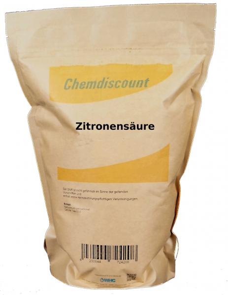 1,5kg Zitronensäure in Lebensmittelqualität im Kraftpapier-Beutel