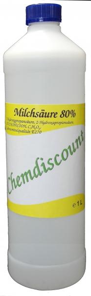 1 Liter Milchsäure 80% in Lebensmittelqualität E270