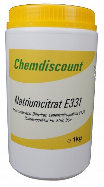 1kg Natriumcitrat (Trinatriumcitrat-Dihydrat), Pharmaqualität und Lebensmittelqualität E331