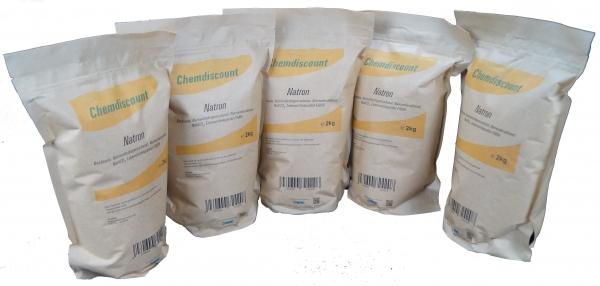 10kg (5x2kg) Natron im Kraftpapier-Beutel wiederverschließbar Backsoda Natriumbicarbonat Natriumhydr