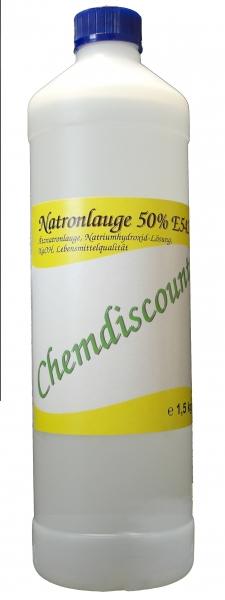 1Liter (ca. 1,5kg) Natronlauge 50%, Lebensmittelqualität (E524), für Brezenlauge, Laugengebäck