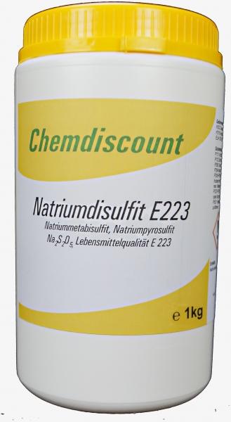 1kg Natriumdisulfit (Natriummetabisulfit, Natriumpyrosulfit) in Lebensmittelqualität E 223