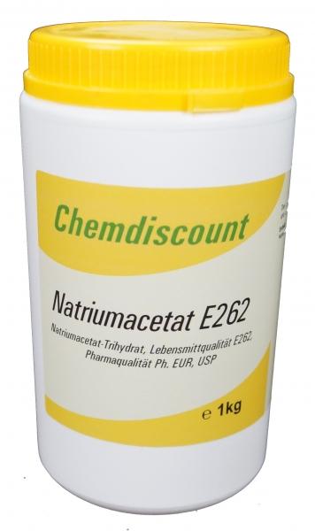 1kg Natriumacetat Pharmaqualität Lebensmittelqualität E262