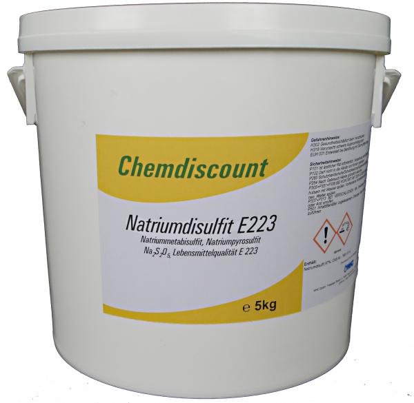 5kg Natriumdisulfit (Natriummetabisulfit, Natriumpyrosulfit) in Lebensmittelqualität E 223