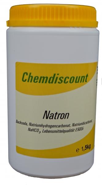 1,5kg Backsoda (= Backpulver, Natron, Natriumbicarbonat)in der Dose