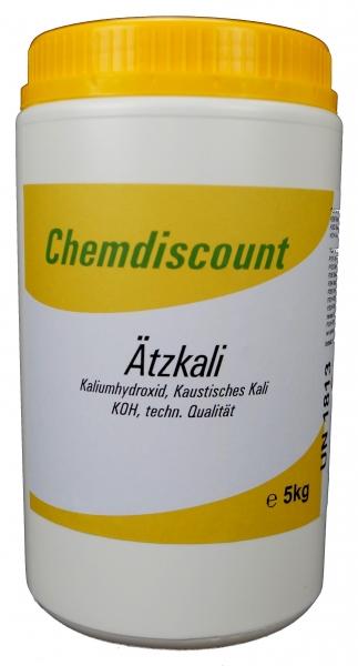 1 kg Ätzkali (KOH Kaliumhydroxid kaustisches Kali) Feststoff Schuppen