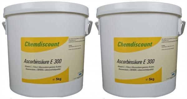 10kg (2x5kg) Ascorbinsäure (Vitamin C) Lebensmittelqualität E300