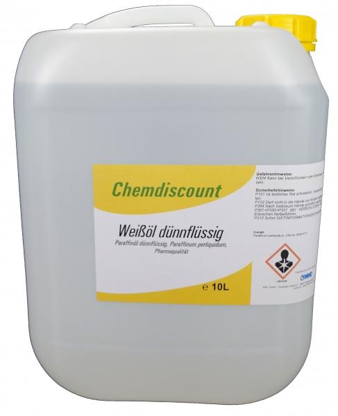 10Liter Weißöl dickflüssig, Paraffinum subliquidum, Pharmaqualität, versandkostenfrei
