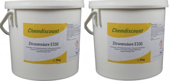 10kg (2x5kg) Zitronensäure in Lebensmittelqualität E330