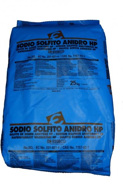25kg Natriumsulfit, wasserfrei, Lebensmittelqualität E221