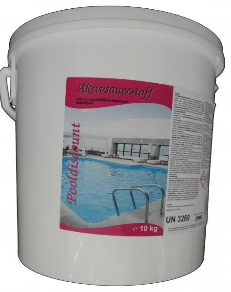 10kg Aktivsauerstoff fest (Pulver/Granulat) zur Desinfektion von Poolwasser