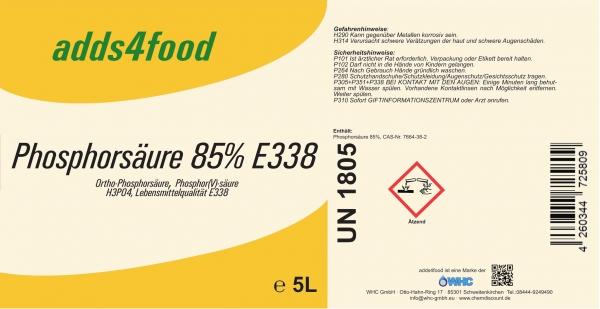 5L Phosphorsäure in Lebensmittelqualität E338