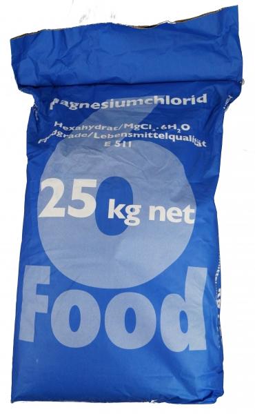 25kg Magnesiumchlorid Lebensmittelqualität E511
