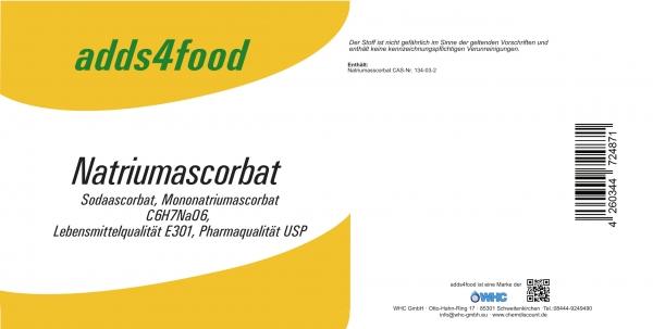 25kg Natriumascorbat in Pharmaqualität USP und Lebensmittelqualität E301