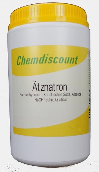 1kg Ätznatron, Mikroperlen, in der Schraubdeckeldose